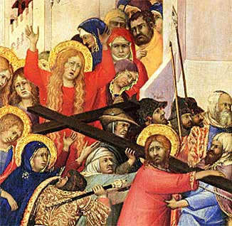 The Road to Calvary, detail (Simone Martini, 1315)